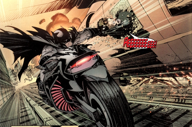 Batman on motorbike