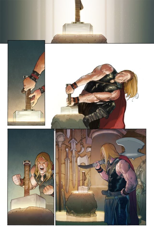 Young Thor vs. Mjolnir